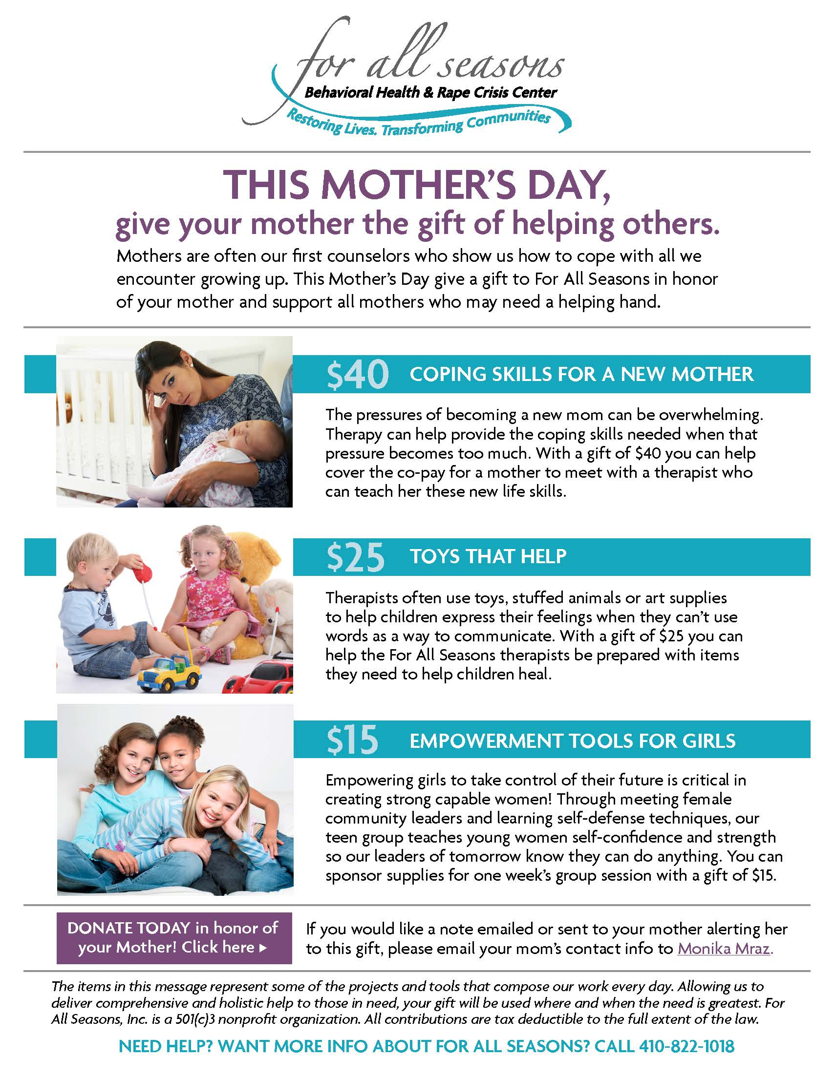 Mother's Day Giving