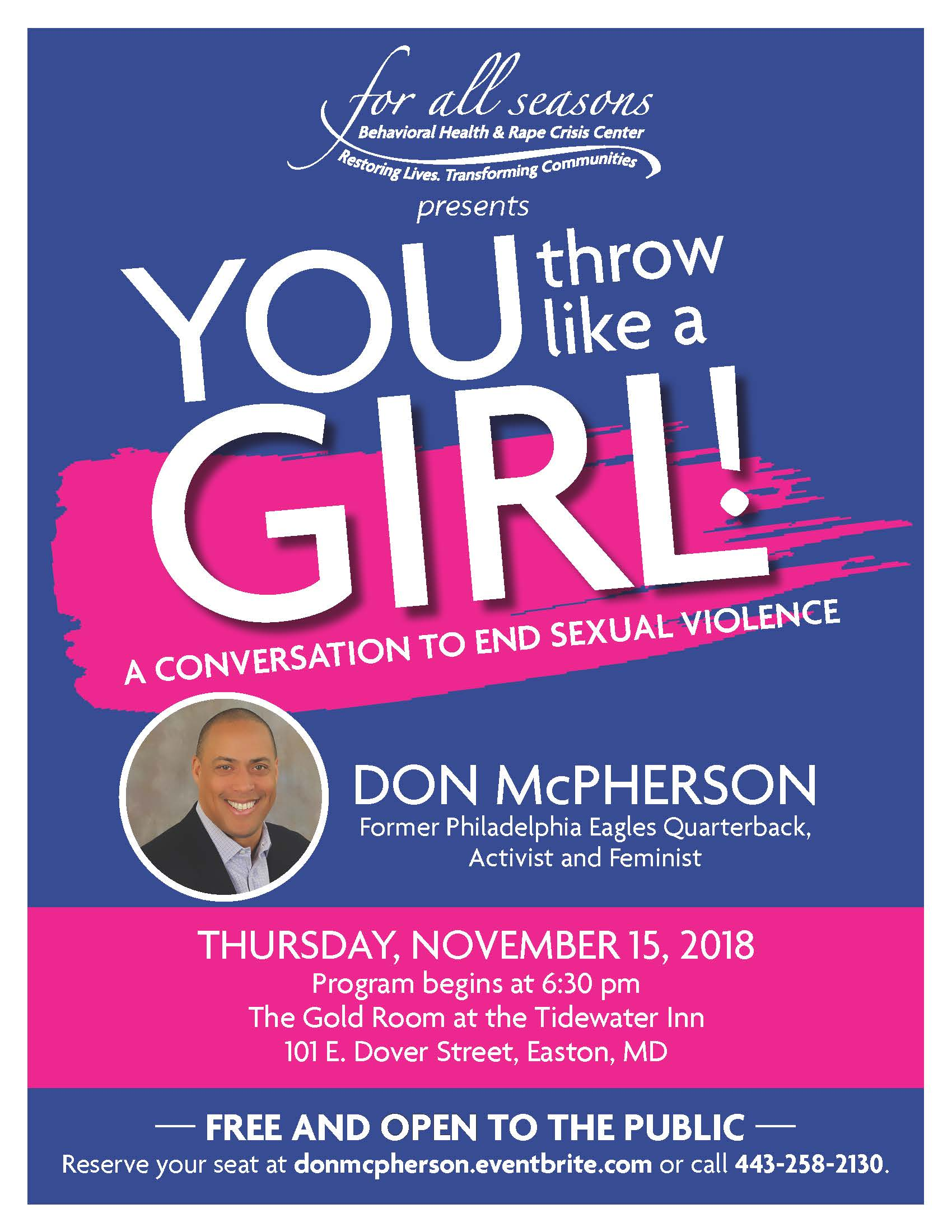 For All Seasons Presents Conversation to End Sexual Violence
